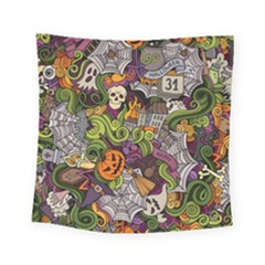 Halloween Pattern Square Tapestry (small)