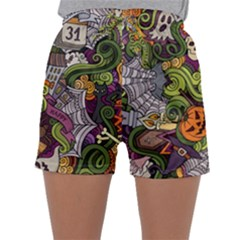 Halloween Pattern Sleepwear Shorts