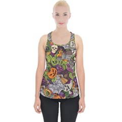 Halloween Pattern Piece Up Tank Top