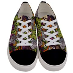 Halloween Pattern Women s Low Top Canvas Sneakers