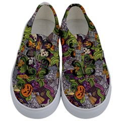 Halloween Pattern Kids  Classic Low Top Sneakers