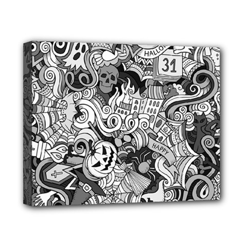 Halloween Pattern Canvas 10  X 8