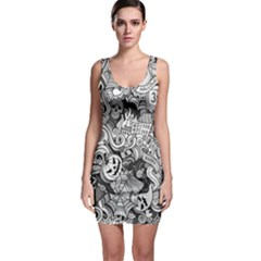 Halloween Pattern Bodycon Dress