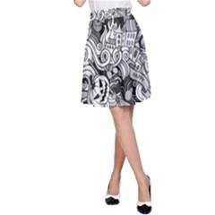 Halloween Pattern A Line Skirt