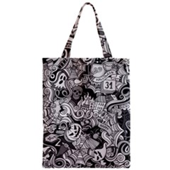 Halloween Pattern Zipper Classic Tote Bag