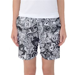 Halloween Pattern Women s Basketball Shorts