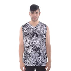 Halloween Pattern Men s Basketball Tank Top