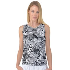 Halloween Pattern Women s Basketball Tank Top