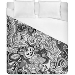 Halloween Pattern Duvet Cover (california King Size)