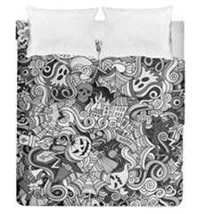 Halloween Pattern Duvet Cover Double Side (queen Size)