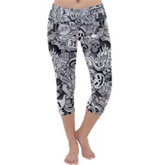 Halloween Pattern Capri Yoga Leggings