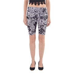 Halloween Pattern Yoga Cropped Leggings