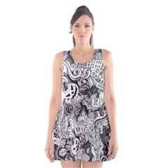 Halloween Pattern Scoop Neck Skater Dress