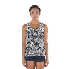 Halloween Pattern Sport Tank Top