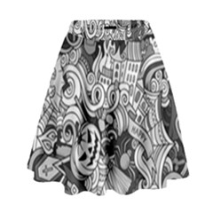 Halloween Pattern High Waist Skirt