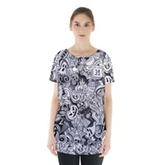 Halloween Pattern Skirt Hem Sports Top
