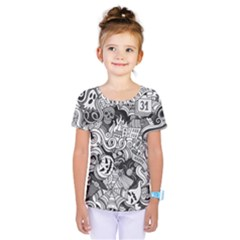 Halloween Pattern Kids  One Piece Tee