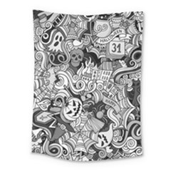 Halloween Pattern Medium Tapestry