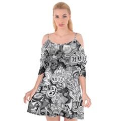 Halloween Pattern Cutout Spaghetti Strap Chiffon Dress