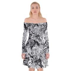 Halloween Pattern Off Shoulder Skater Dress