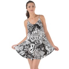 Halloween Pattern Love The Sun Cover Up