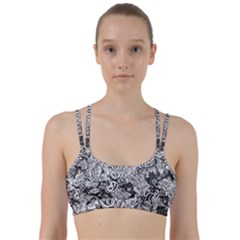 Halloween Pattern Line Them Up Sports Bra
