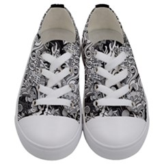 Halloween Pattern Kids  Low Top Canvas Sneakers
