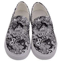 Halloween Pattern Men s Canvas Slip Ons