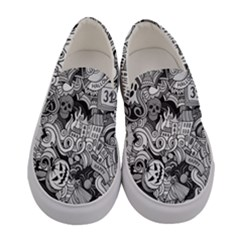 Halloween Pattern Women s Canvas Slip Ons