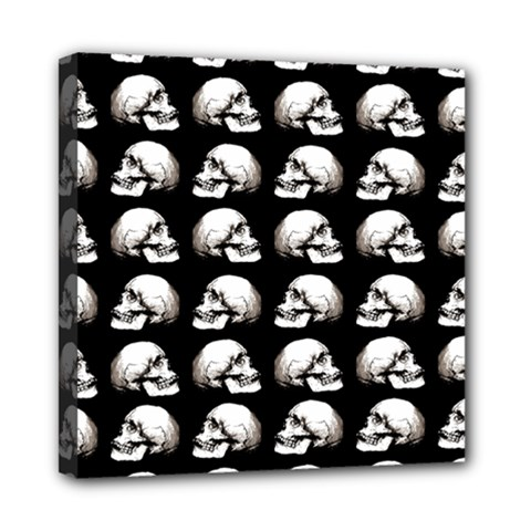 Halloween Skull Pattern Mini Canvas 8  X 8