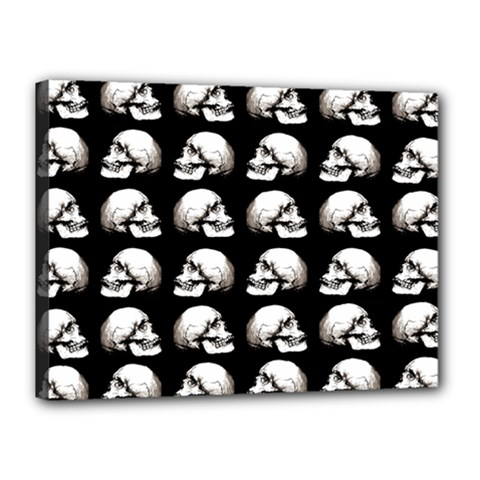 Halloween Skull Pattern Canvas 16  X 12