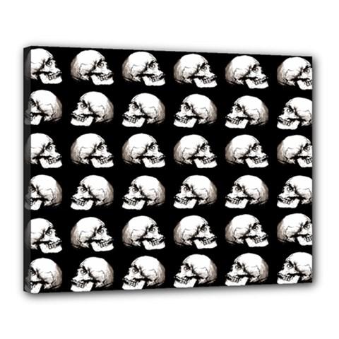 Halloween Skull Pattern Canvas 20  X 16