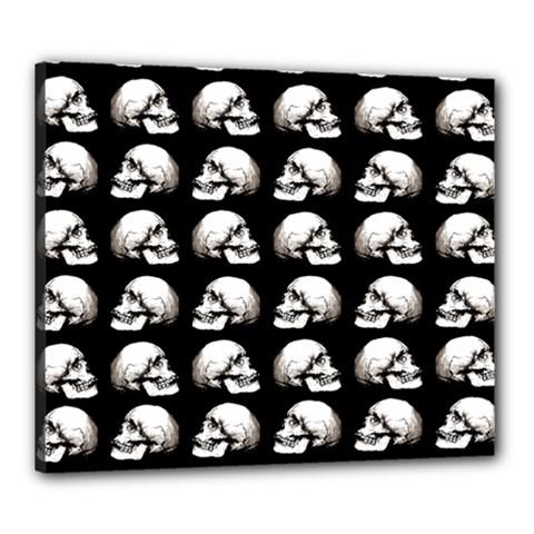 Halloween Skull Pattern Canvas 24  X 20