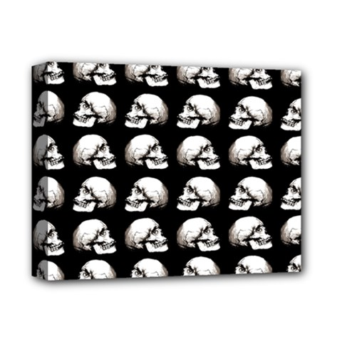 Halloween Skull Pattern Deluxe Canvas 14  X 11
