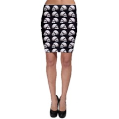 Halloween Skull Pattern Bodycon Skirt