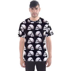 Halloween Skull Pattern Men s Sports Mesh Tee