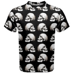 Halloween Skull Pattern Men s Cotton Tee