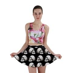 Halloween Skull Pattern Mini Skirt