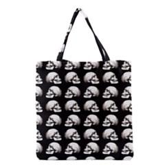 Halloween Skull Pattern Grocery Tote Bag