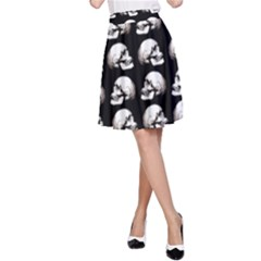 Halloween Skull Pattern A Line Skirt