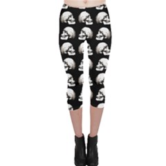 Halloween Skull Pattern Capri Leggings