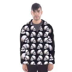 Halloween Skull Pattern Hooded Wind Breaker (men)