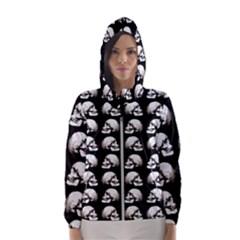 Halloween Skull Pattern Hooded Wind Breaker (women)
