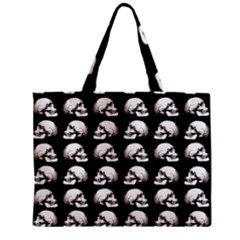 Halloween Skull Pattern Zipper Mini Tote Bag