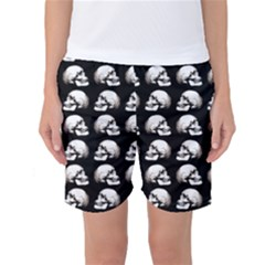 Halloween Skull Pattern Women s Basketball Shorts
