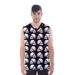 Halloween Skull Pattern Men s Basketball Tank Top