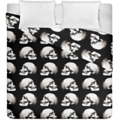 Halloween Skull Pattern Duvet Cover Double Side (king Size)