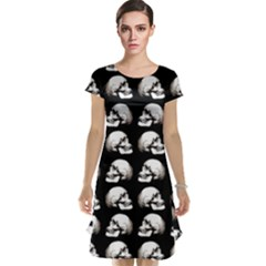 Halloween Skull Pattern Cap Sleeve Nightdress