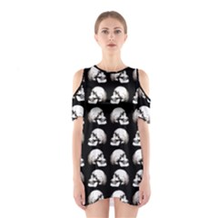Halloween Skull Pattern Shoulder Cutout One Piece