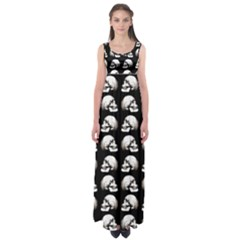 Halloween Skull Pattern Empire Waist Maxi Dress